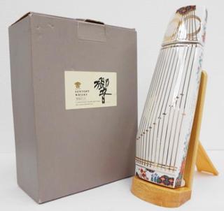 響 和楽器(琴)型 陶器ボトル